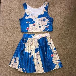 Dresses & Skirts - Westeros Map Skater Skirt 2-Piece